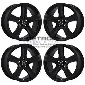 19 Ford Mustang Gloss Black Wheels Rims Factory Oem 3910 2013 2014 Set