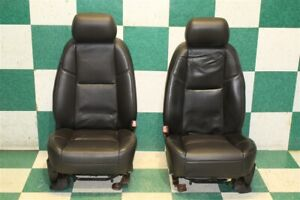Dmg 12 14 Escalade Black Leather Heated Cooled Front Power Bucket Seats An3 Oe