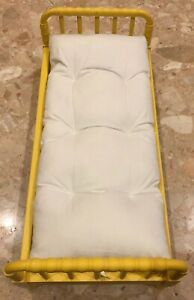2013 American Girl Yellow Doll Bed Spindle Post Mattress 21x10x7