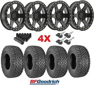 Method Wheels Rims Tires Black Off Road 285 70 17 Bfgoodrich Ko2 Con 6