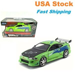 Fast And Furious Brian#x27;s 1995 Mitsubishi Eclipse JADA Diecast Toy Car 5quot; 1:32 $9.99