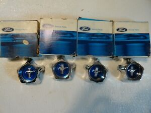Nos 1967 67 Ford Mustang Style Steel Wheel Center Hub Caps Set Of 4