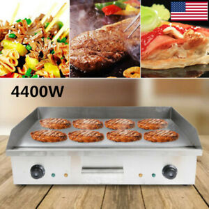 4400w Electric Countertop Griddle Flat Top Commercial Restaurant Grill Bbq Sale
