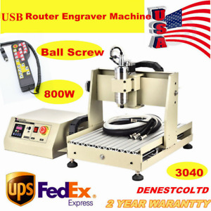 Usb 4axis 3040cnc Router Engraver Cutting Carving Machine controller 800w Vfd Us