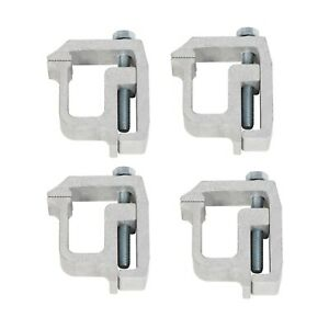 4 X Truck Cap Topper Camper Shell Mounting Clamps Heavy Duty Aluminum Us