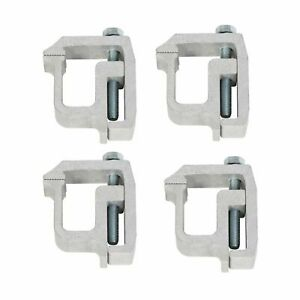 4x Truck Cap Topper Camper Shell Clamps Mounting Aluminum Heavy Duty