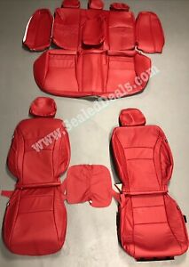 2013 2014 Honda Accord Sport Ex Red Katzkin Leather Seat Replacement Covers