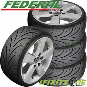 4 New Federal 595rs R 215 45zr17 87w Summer Performance Sport Racing Uhp Tire