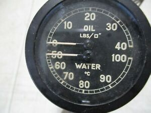Vintage Rolls Royce Phantom Iii Wraith Oil Pressure Water Temperature Gauge