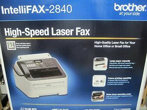 Brother Fax 2840 Intellifax 2840 High speed Laser Fax Machine New