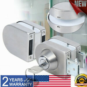 10mm 12mm Double Glass Door Lock Frameless Stainless Steel Home Office Security