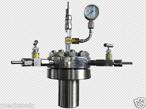 High Pressure Hydrothermal Autoclave Reactor 500ml 380 22mpa Customizable S