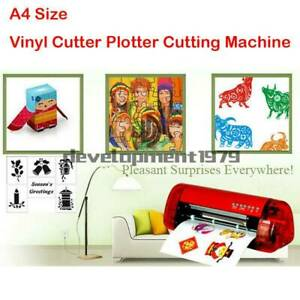 A4 Stickers Cutter Vinyl Cutter Plotter Cutting Machine Contour Cut Function Red