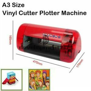 A3 Stickers Cutter Vinyl Cutter Plotter Cutting Machine Contour Cut Function Red