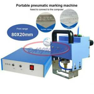 Pneumatic Dot Peen Metal Marking Machine Make Letters Serial Numbers 220v