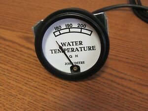 John Deere D Tractor White Faced Water Temp Gauge 48 Lead Aa1986r 9417
