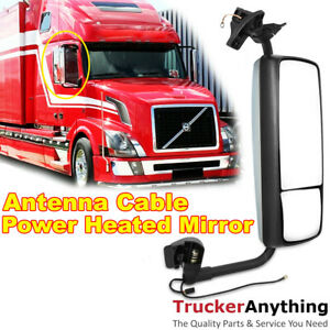 Mirror Complete Right Passenger Side Volvo Vnl 04 15 Power Heated Antenna Cable