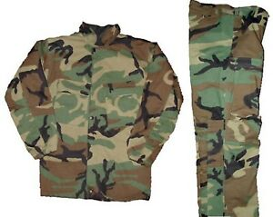 Military Chemical Protective Suit Sealed Size Medium Camouflage