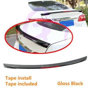 Fit For Nissan Sentra 2013 2019 Sedan Rear Trunk Lip Spoiler Wing With Reflector
