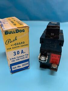 Bulldog pushmatic 31230 Circuit Breaker 30 A 2 P 120 240v Pushbutton new
