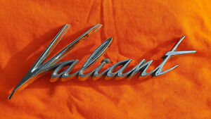 1960 Valiant Trunk Lid Emblem One Year Only Part 2081933