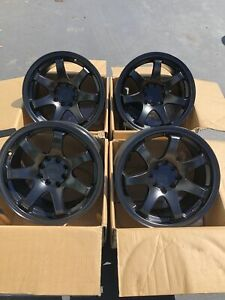 15x8 21 Xxr 551 4x100 114 3 Black Wheels Fits Civic Miata Delso Integra Used