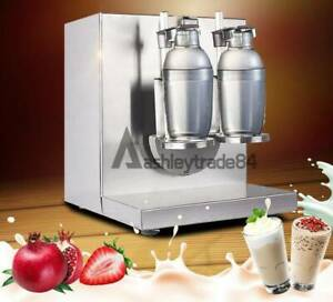 Bubble Boba Milk Tea Shaker Machine Auto Shaking Mixer Doubleframe Control Cream