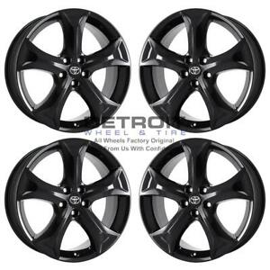 20 Toyota Venza Gloss Black Exchange Wheels Rims Factory Oem 69558 2009 2016