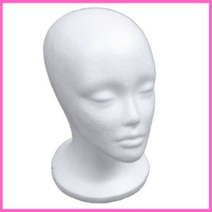 Head Model Hat Wig Display Stand Rack White Female Foam Mannequin Dress Forms