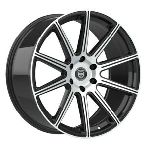4 G42 Mod 22 Inch Black Rims Et15 Fits Ford Shelby Gt 500 2007 2018
