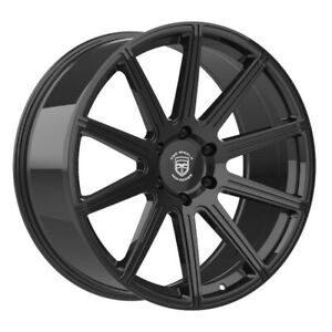 4 G42 Mod 22 Inch Gloss Black Rims Fits Ford Shelby Gt 500 2007 2018