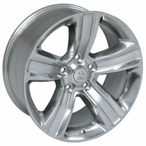 Polished Ram 1500 Style Wheel W silver Inlay For 2003 Dodge Ram 1500 20x9