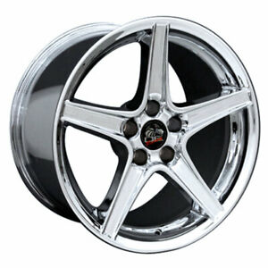 Chrome 18 Wheel Compatible With Mustang Saleen Style Rim 18x10