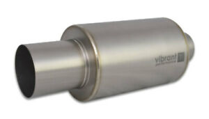 Vibrant Titanium Muffler With Straight Cut Natural Tip 2 50 Inlet