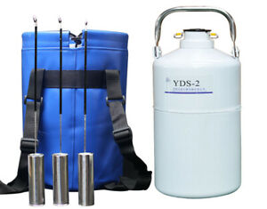 Ln2 Containers Tank 2 Liter Liquid Nitrogen Dewar Tanks Flask With 6 Canisters