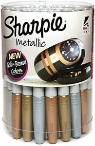 Sharpie Metallic Permanent Markers Fine Tip Assorted Colors Pack Of 36