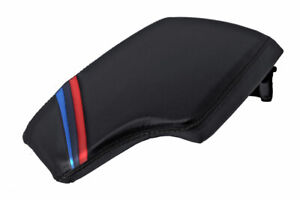 Console Lid Armrest Cover Leather For Bmw F30 2014 2018 Black M Style Stripes