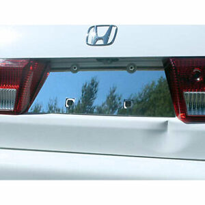 Luxury Fx Chrome License Plate Bezel For 2003 2005 Accord