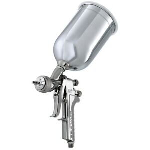 Gravity Feed Hvlp Paint Gun With 1 3 1 4 1 5mm Tips And Aluminum Cup New