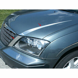 Stainless Hood Accent Trim Fit For 2004 2007 Chrysler Pacifica Luxfx2028