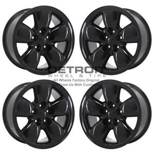 20 Dodge Ram 1500 Gloss Black Wheels Rims Factory Oem 2167 2002 2019 Set