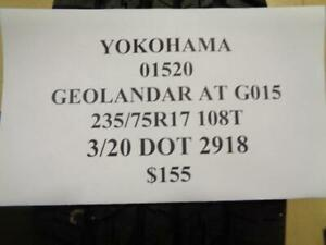 1 New Yokohama Geolander At G015 235 75 17 108t Tire W Label 01520 Q0