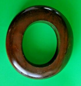 Solid Wooden Millinery Hat Block Form Mold Brim Ring Antique