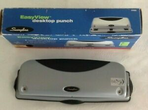 Swingline 3 Hole Punch Grip Handle Easyview Desktop Punch 12 For Home Office
