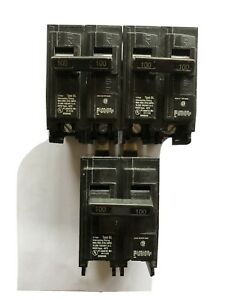 Lot Of 3 Siemens B2100 2 Pole 100a 240v Bolt On Circuit Breakers