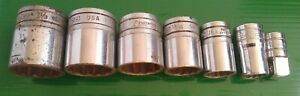 Sockets Snap on Sae Miscellaneous Various Lot Of 7