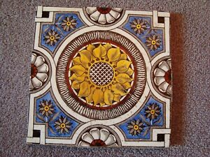 Decorative Antique Sunflower Style Aesthetic Tile 21 38