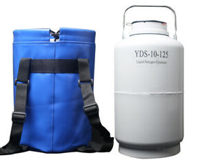 Yds 10 125 Ln2 Tank Liquid Nitrogen Containers Cryo Dewar Flask Tank With Straps