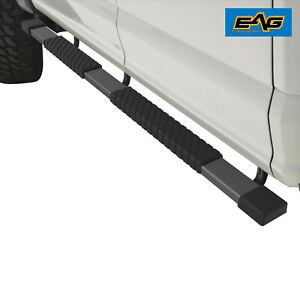 Eag 4 Black Running Board Aluminum And Bracket Fit For 02 08 Ram 1500 Quad Cab