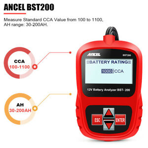 Ancel Bst200 12v Lcd Car Digital Battery Tester Analyzer Diagnostic Tool 1100cca